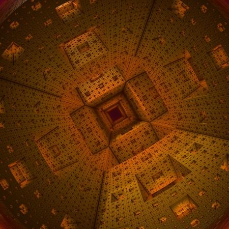 sci: Futuristic Corridor Stock Photo