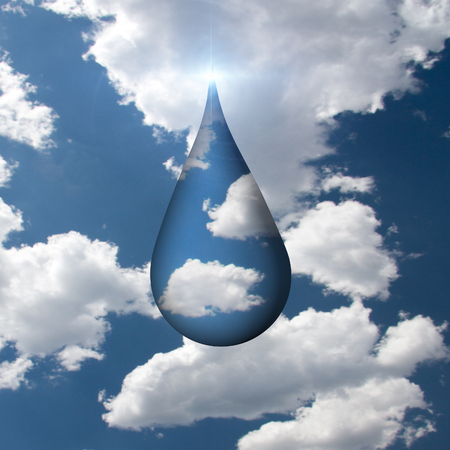 flowed: Droplet of Sky Stock Photo