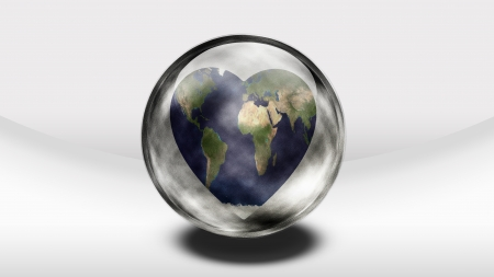 humankind: Earth Heart in glass container