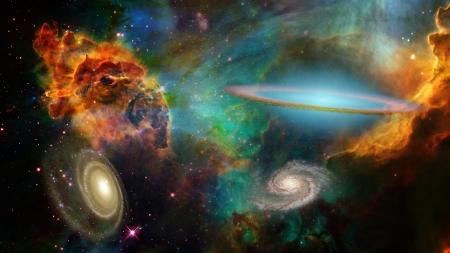 NASA가 제공 한이 이미지의 딥 스페이스 요소