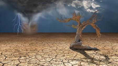砂漠の嵐が激化 写真素材