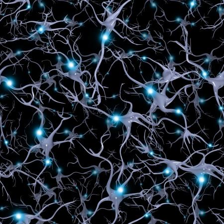 Senza soluzione di continuità ripetibile Cervello Cellule modello Archivio Fotografico - 23178823