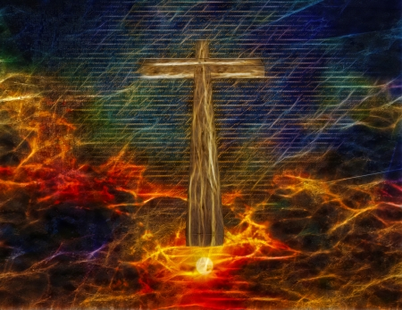 Cross in Sky Stok Fotoğraf