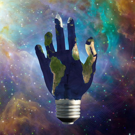 Light Bulb Hand Earth photo