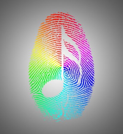 Rainbow Music Finger Print photo