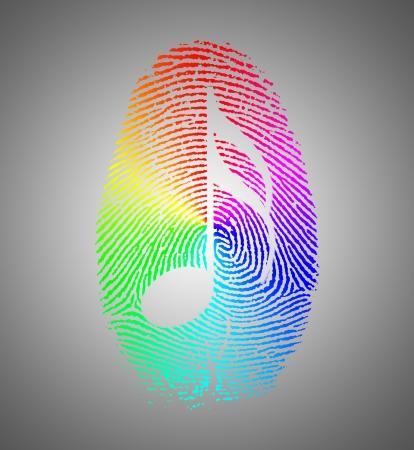 alibi: Rainbow Music Finger Print