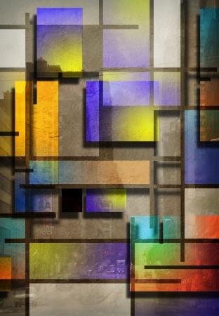 Modern Art Inspired Geometric Design photo