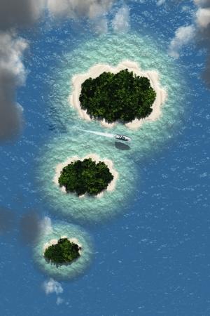 Imagination Cloud Islands Фото со стока - 24439859