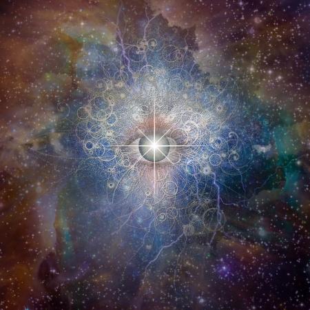 Eye and stars design photo