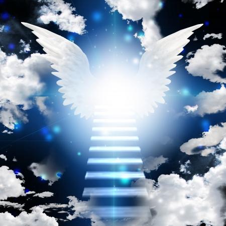 himlen: Stairway in ljus