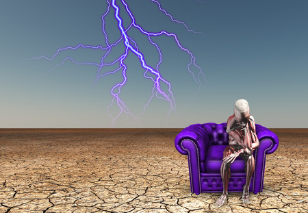 contemplates: Skeletal figure contemplates