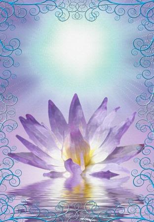 Lotus with decorative edging