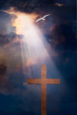 Cross and dramatic sky 版權商用圖片