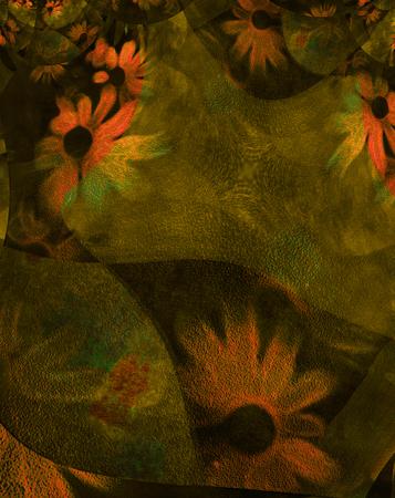 抽象的な花