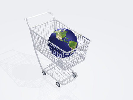 Shopping cart holds earth Images used to create this image were furnished by NASA photo