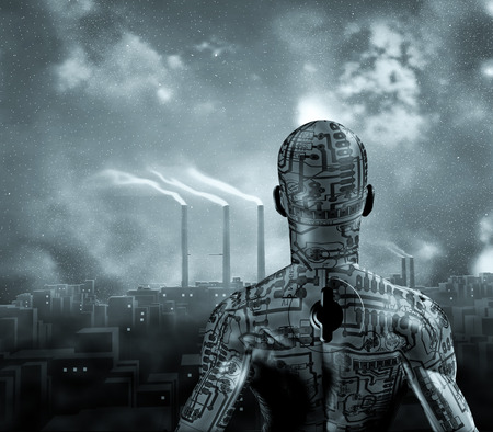 steel industry: Machine man Stock Photo