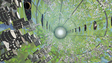 generational: Multi Generational Colony Space Craft Interior