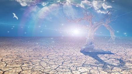 delightful: Delightful desert scene with light