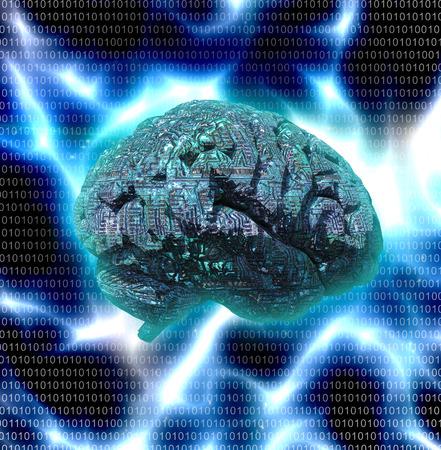 electronic: Electronic Brain Design Stock Photo