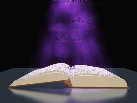 Book with light photo