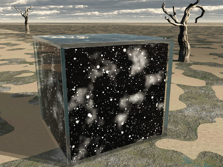 Box contains space and stars Banco de Imagens
