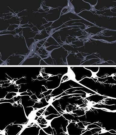 dendrites: Nerve cells with alpha mask