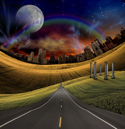 diminishing view: Road to City