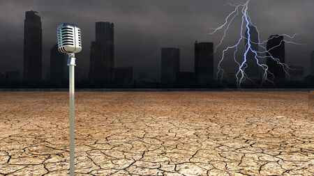 dystopia: Microphone in Dystopic world