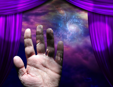 Hand with galaxy Stock Photo - 25749188