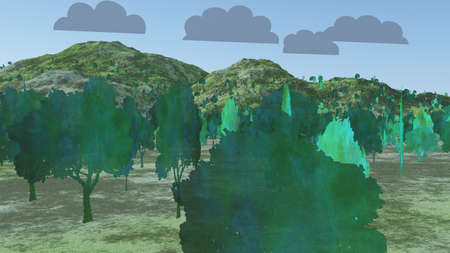 Two Dimensional Trees in Landscape Imagens - 25974697