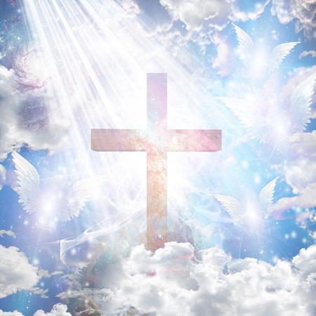 Forme Cross e angeliche Archivio Fotografico - 25974740