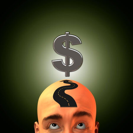 Think road to wealth Stock Photo