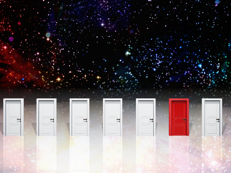 opportunity: Doorways and space filled with stars