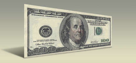 ben franklin: US Hundred Dollar bill with Drunken Ben Franklin