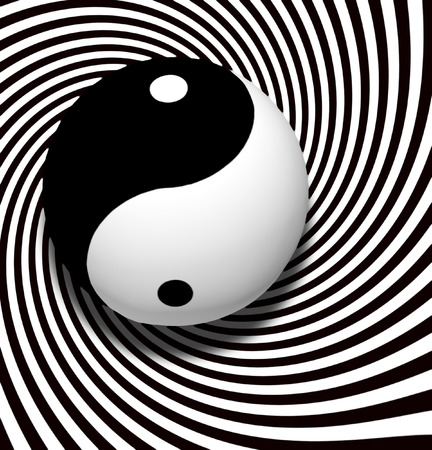 chinese philosophy: Yin Yang Symbol With Spiral