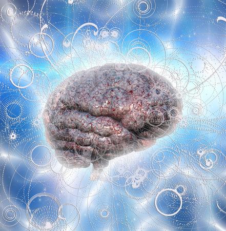 COGNICION: Irradia cerebrales Foto de archivo