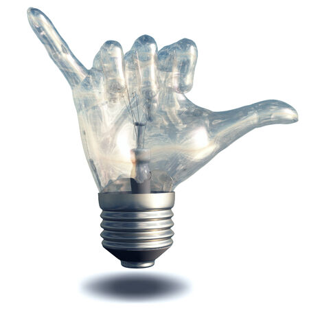 loose: Hang Loose Gesture Light Bulb Stock Photo