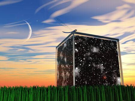 宇宙と星が入ります