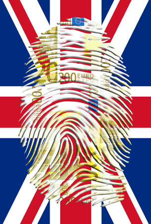 authenticate: UK Flag with Euro Finger Print