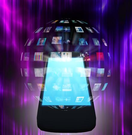 Smart Phone Video Sphere or Image Sphere Stock Photo
