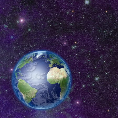 gaia: Planet earth in space Stock Photo