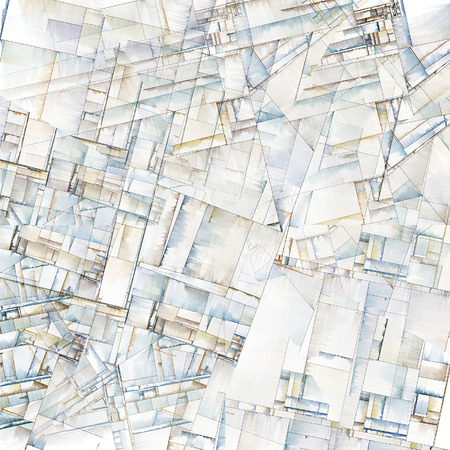 art painting: Abstract Art Reminiscent of City Blocks