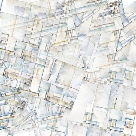 Abstracte Kunst Doet denken van City Blocks