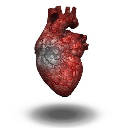 enfermedades del corazon: Coraz�n Herido Foto de archivo