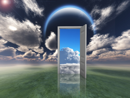 concept magical universe: Doorway into other world
