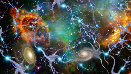 Brain Cells and Deep Space Banque d'images
