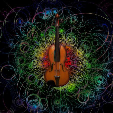 concerto: Violin Design Stock Photo