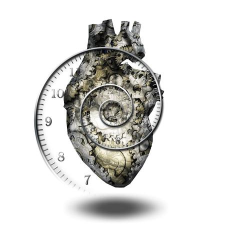heart organ: Human heart gears and time spirial