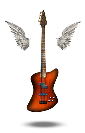 Base Guitar with wings photo