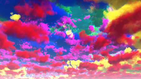 day dream: Vivid Multihued Clouds
